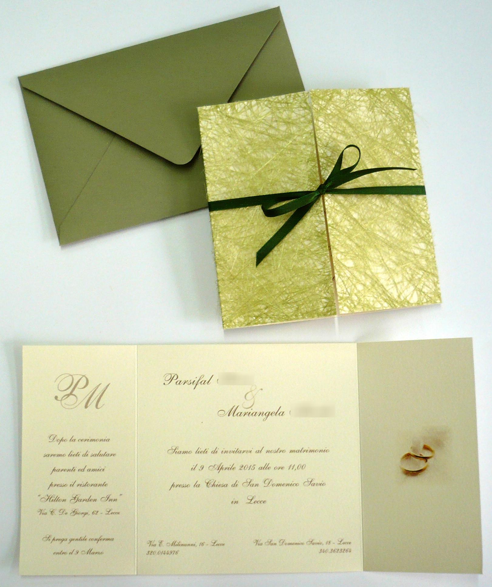 Partecipazioni Matrimonio Lecce.Tipografia Sardone