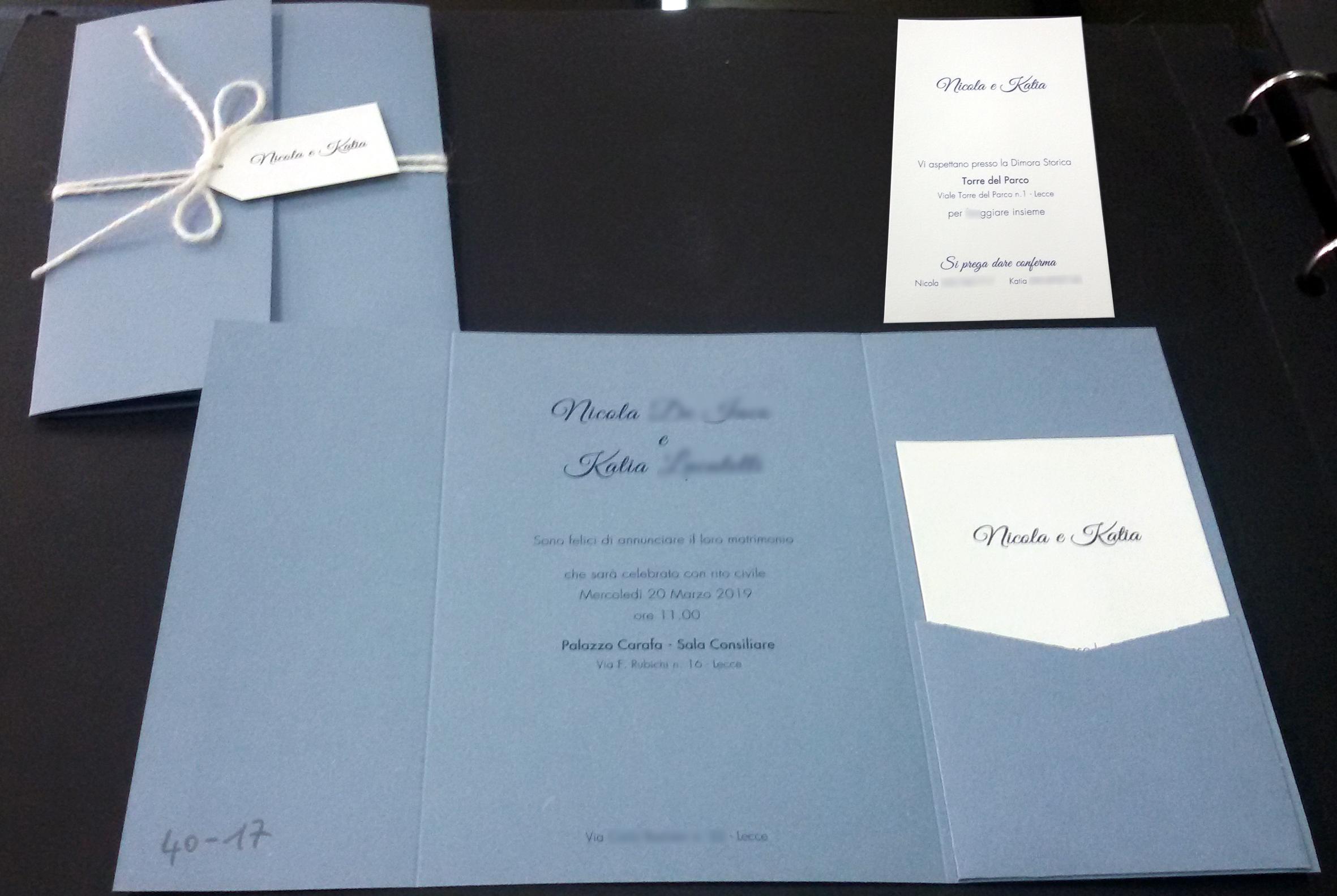 Cartoncino Per Partecipazioni Matrimonio.Tipografia Sardone